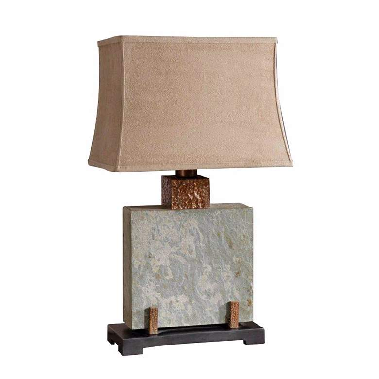 Uttermost Square Slate Indoor - Outdoor Table Lamp