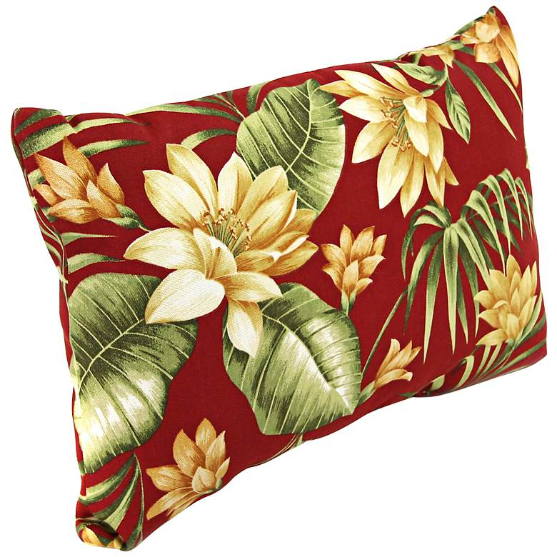 """Pompei Cream 18"""" Various Edge Outdoor Accent Pillow"""