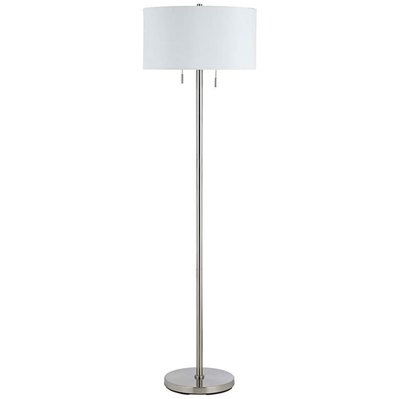 Spiga Brushed Steel Floor Lamp by Cal Lighting