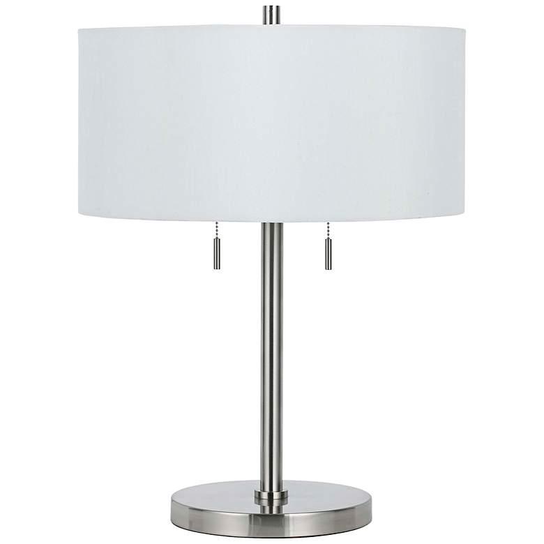 Spiga Brushed Steel Table Lamp