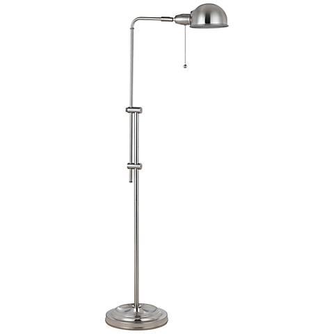 Tamber Brushed Steel Adjustable Pharmacy Floor Lamp