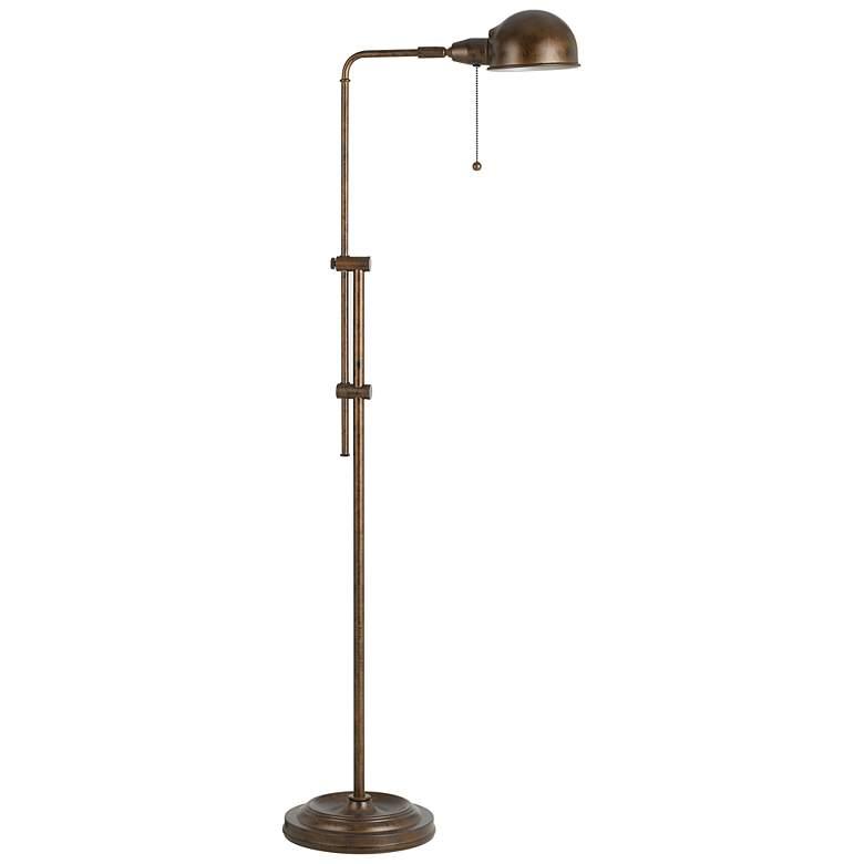 Tamber Rust Adjustable Pharmacy Floor Lamp