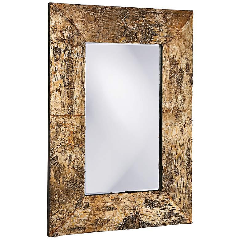 "Howard Elliott Birch Bark Wood 26"" x 36"" Wall Mirror"