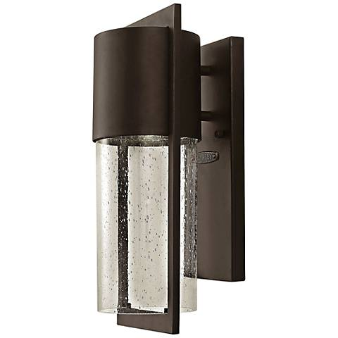 "Hinkley Shelter 15 1/2""H LED Bronze Outdoor Wall Light"