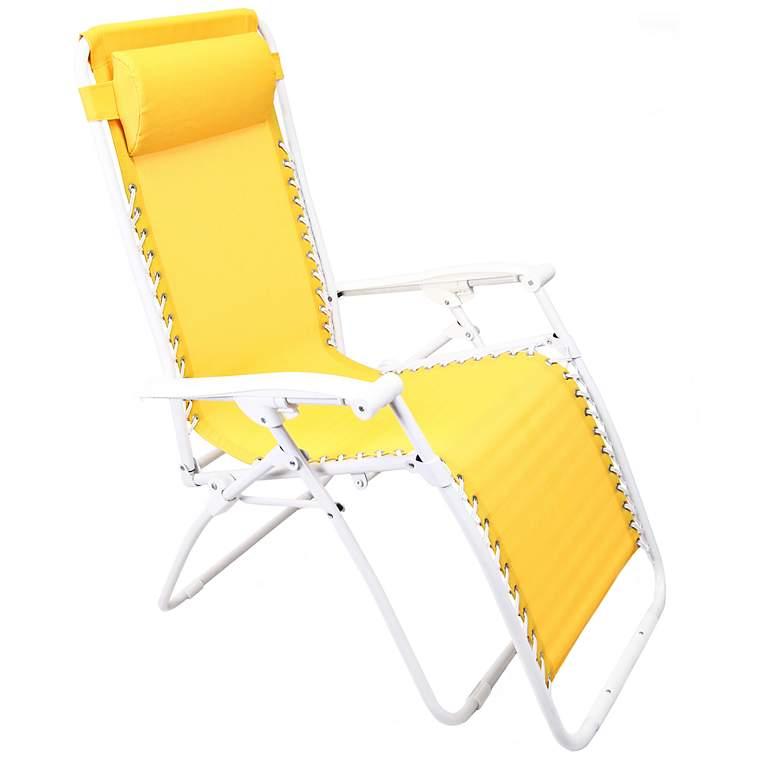 Zero Gravity Yellow Outdoor Chaise Lounge