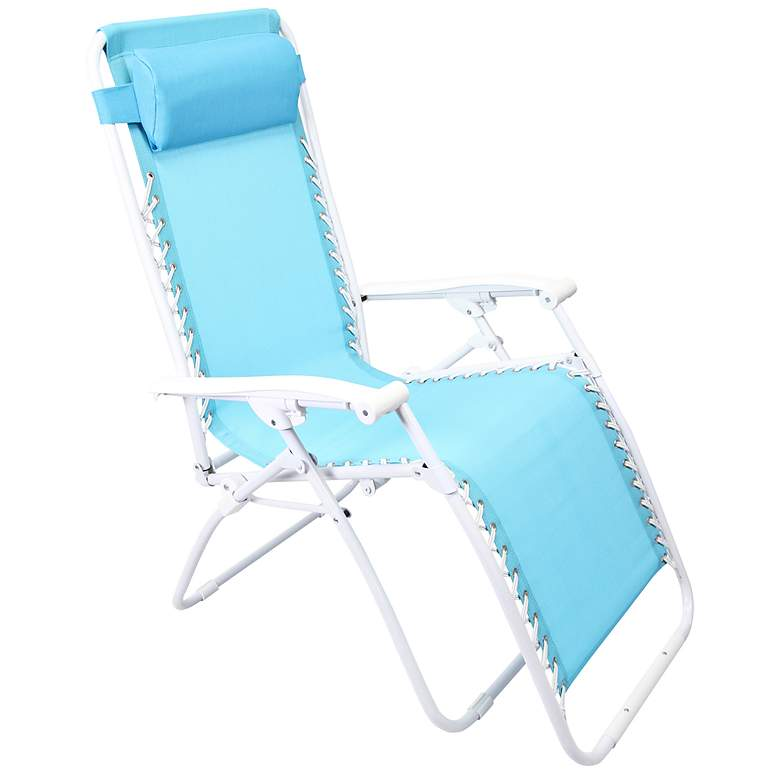 Zero Gravity Turquoise Outdoor Chaise Lounge
