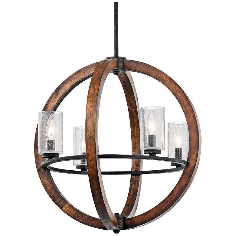 "Kichler Grand Bank 20"" Wide 4-Light Auburn Stained Pendant"