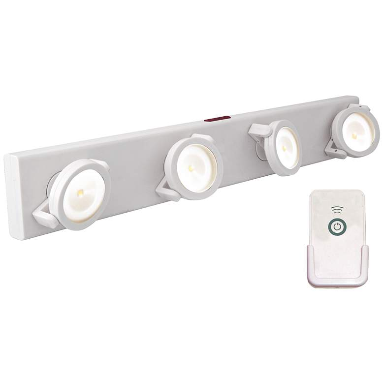 LED Battery Powered White Light Bar with Remote