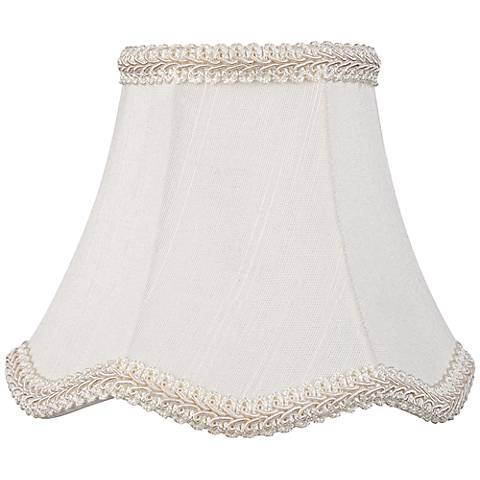 Scallop Cream Chandelier Lamp Shade 3x5.5x4.5 (Clip-On)