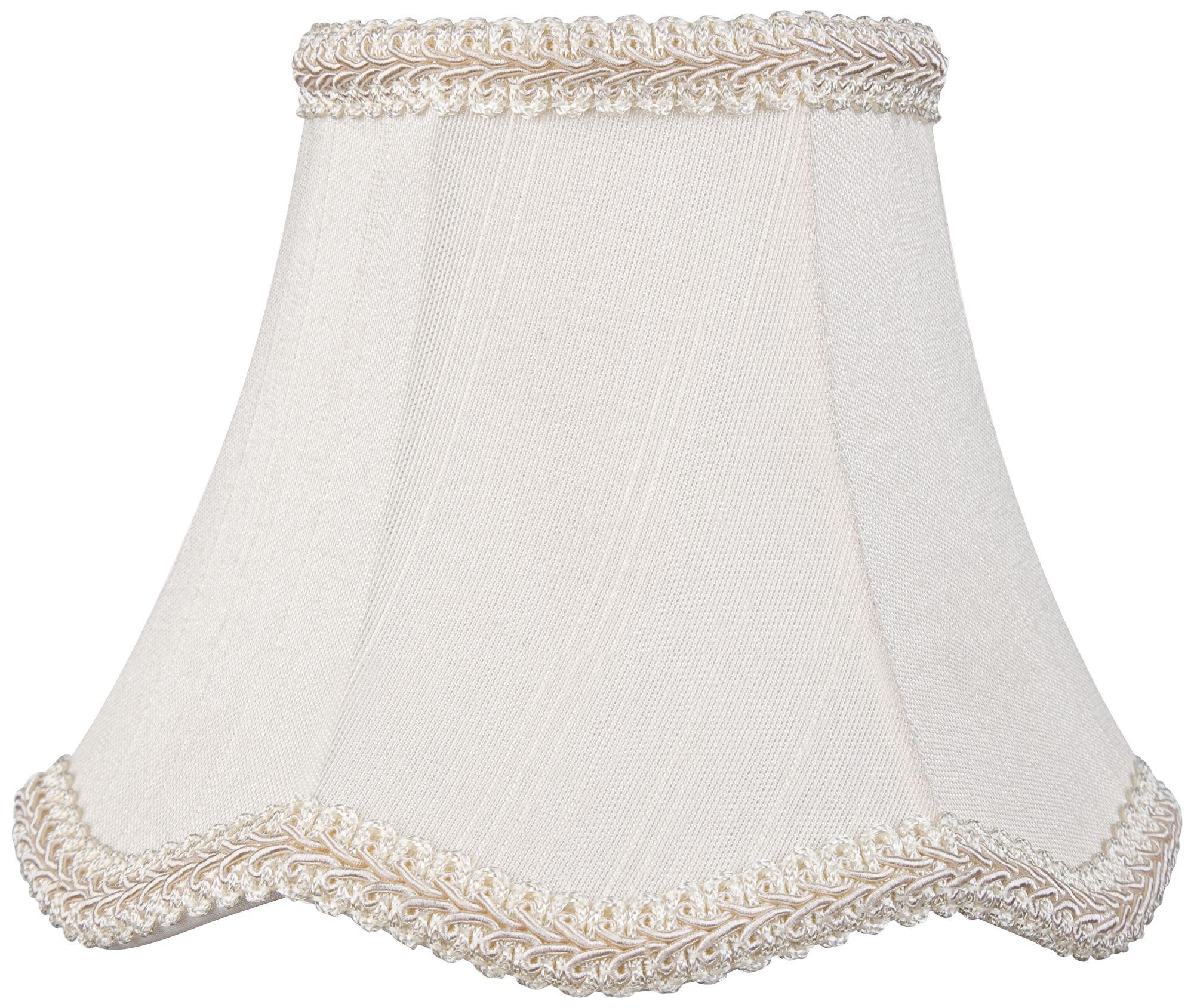 Scallop Cream Chandelier Lamp Shade 3x5.5x4.5 (Clip On)