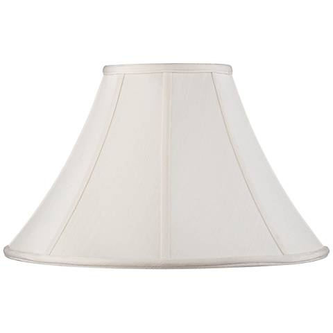 Off-White Shantung Lamp Shade 7x18x10.5 (Spider)