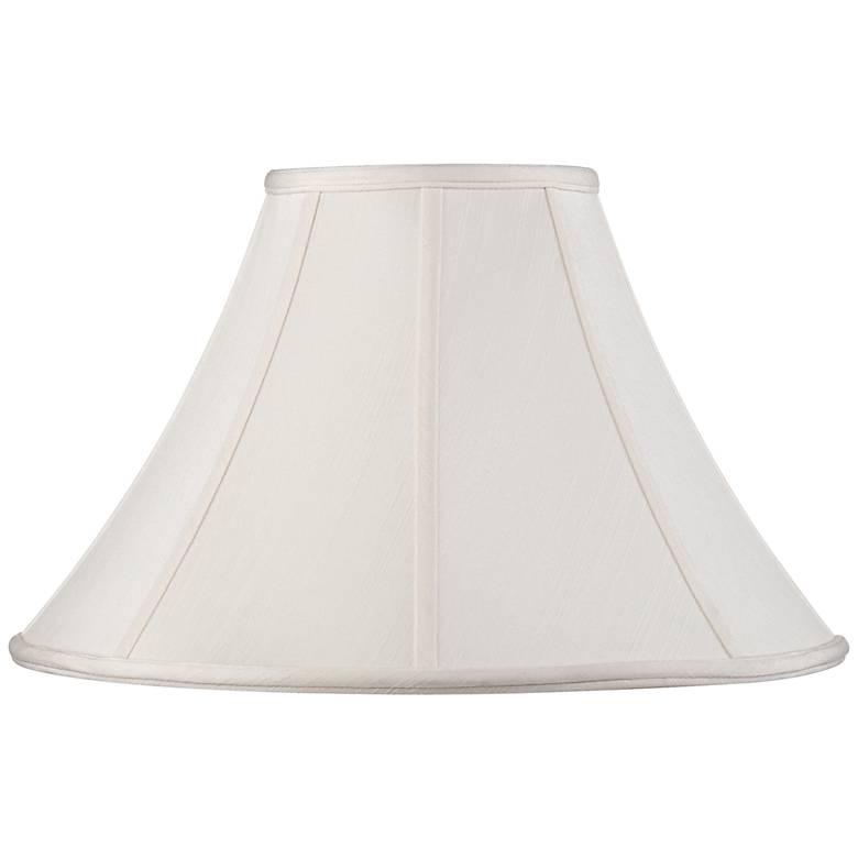 Off-White Shantung Lamp Shade 7x18x10.5 (Spider)