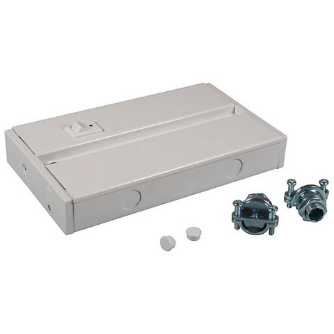 LED Complete White Under Cabinet Light Hardwire Box
