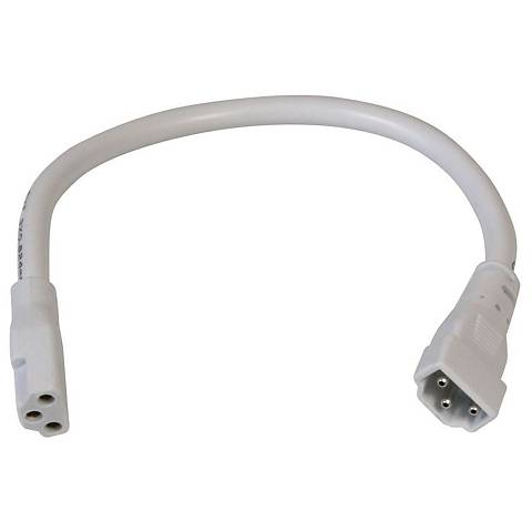 "Complete White 6"" Long Under Cabinet Connector Cable"