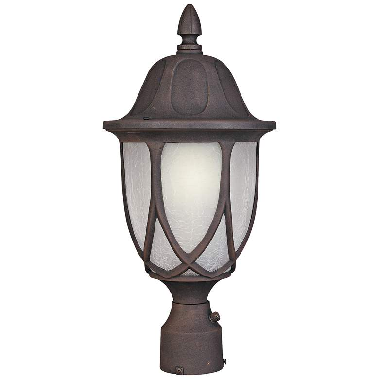 """Capella 19 1/4""""H Crackled Glass Gold Outdoor Post Light"""