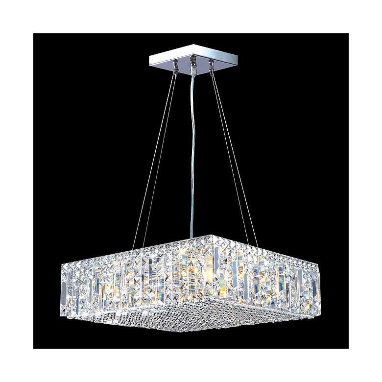 James Moder Contemporary 20 W Silver Crystal Pendant Light