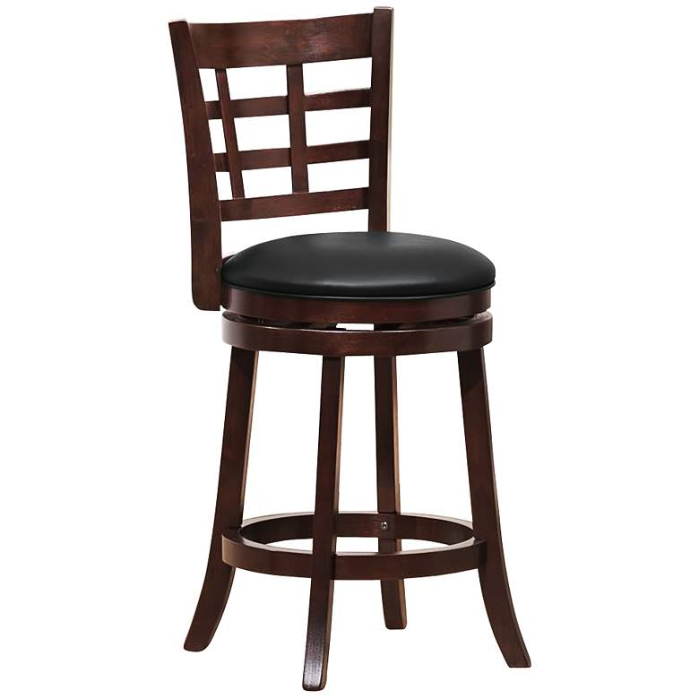 "HomeBelle Trellis Back 24"" Swivel Counter Stool"