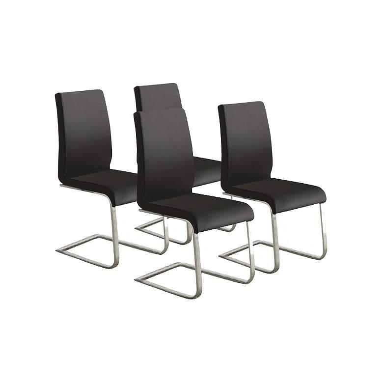 HomeBelle Set of 4 Modern Black Side Chairs