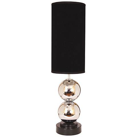 Van Teal Run Around Black Shade Chrome Table Lamp