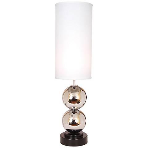 Van Teal Run Around White Shade Chrome Table Lamp