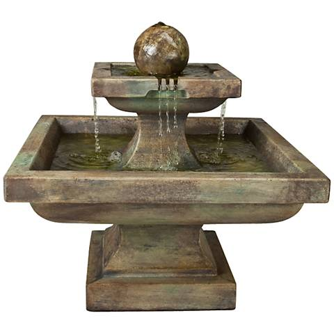"Henri Studio 24"" High Relic Nebbia Low Equinox Fountain"