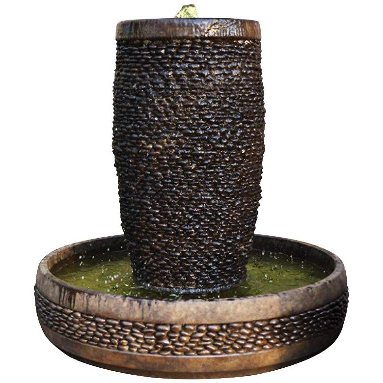 """Shimmering Stones Cast Stone 36"""" High Fountain"""
