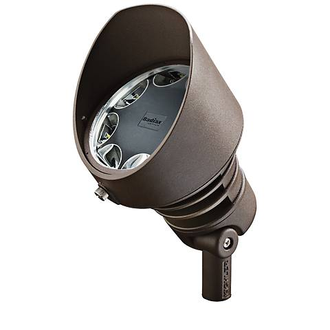 Radiax 3000K 35-Degree 21-Watt LED Bronze Flood Light