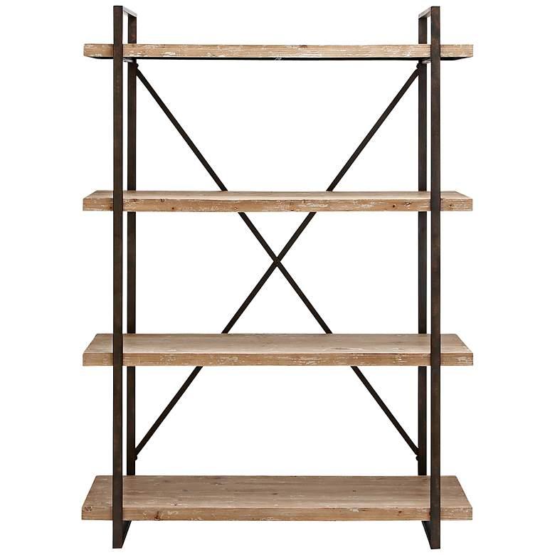 Burell Metal and Wood Shelf