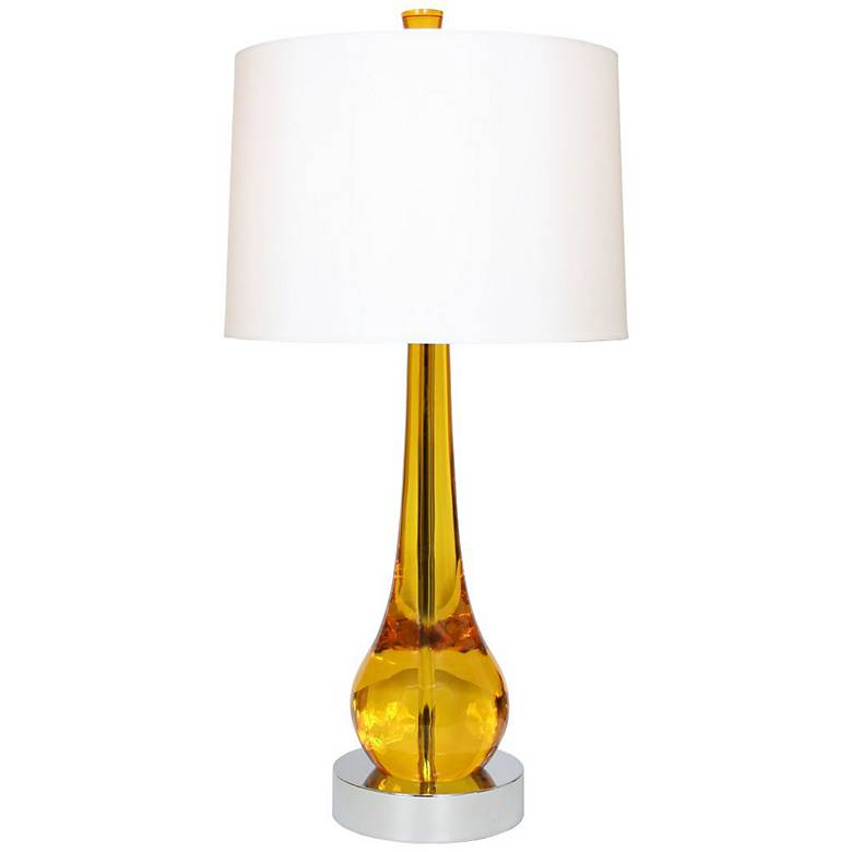 "Van Teal Magic 33"" High Gold Acrylic Table Lamp"