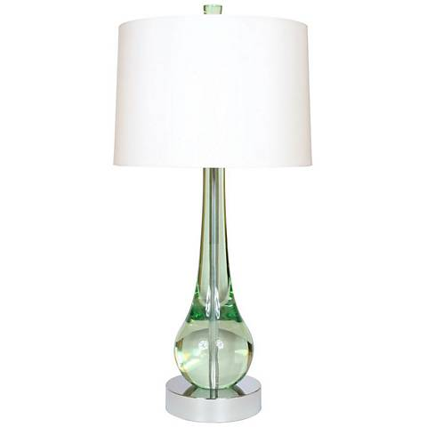 "Van Teal Wonder 33"" High Mint Acrylic Table Lamp"