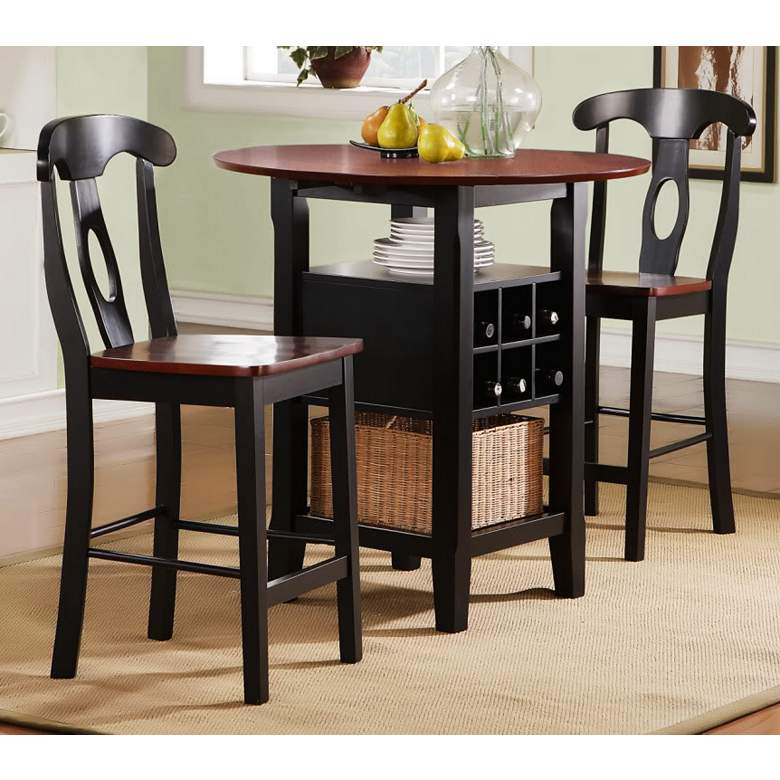 """HomeBelle 36"""" Wide Bistro Table with Chairs 3-Piece"""