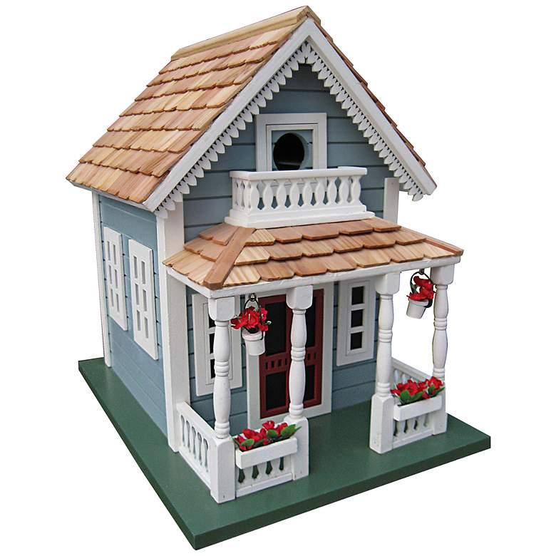 Newburyport Blue Cottage Birdhouse