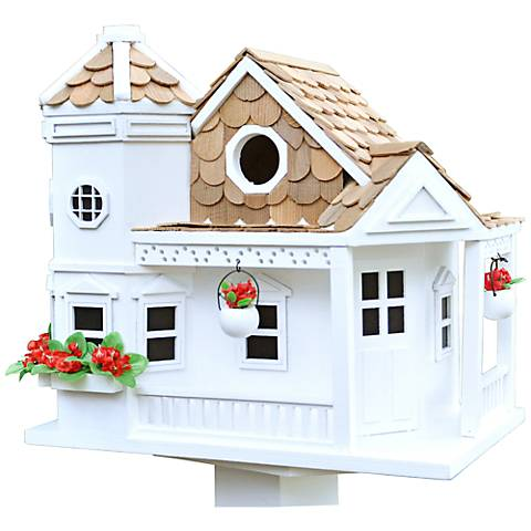 Sea Cliff White Cottage Birdhouse