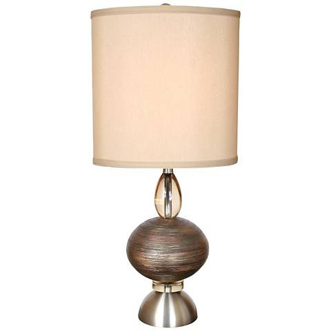 Van Teal Oneal Copper And Brushed Nickel Modern Table Lamp