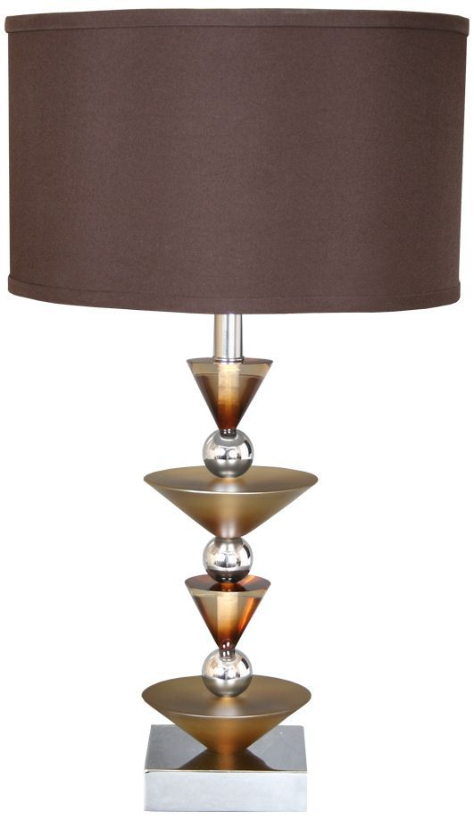 Van Teal Simple Run Wheat Ginger And Chrome Table Lamp