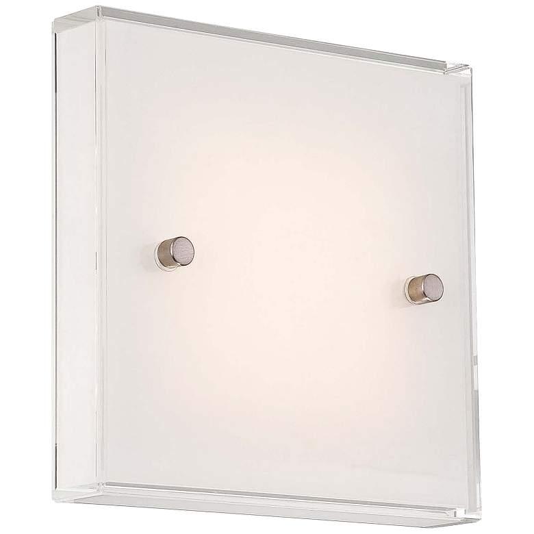 "George Kovacs Framework 6 3/4"" High Nickel LED Wall Sconce"