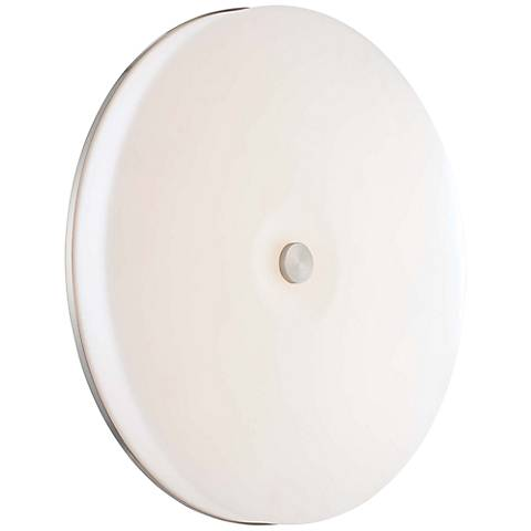"George Kovacs Uho 15"" Wide Nickel Wall Sconce Ceiling Light"