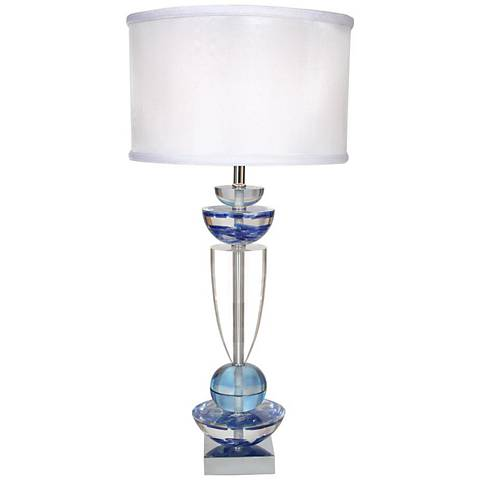 Van teal every moment sea glass blue table lamp 2h495 lamps plus van teal every moment sea glass blue table lamp mozeypictures Images