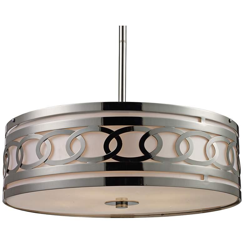 "Zarah 5-Light 23"" Wide Polished Nickel Pendant Light"