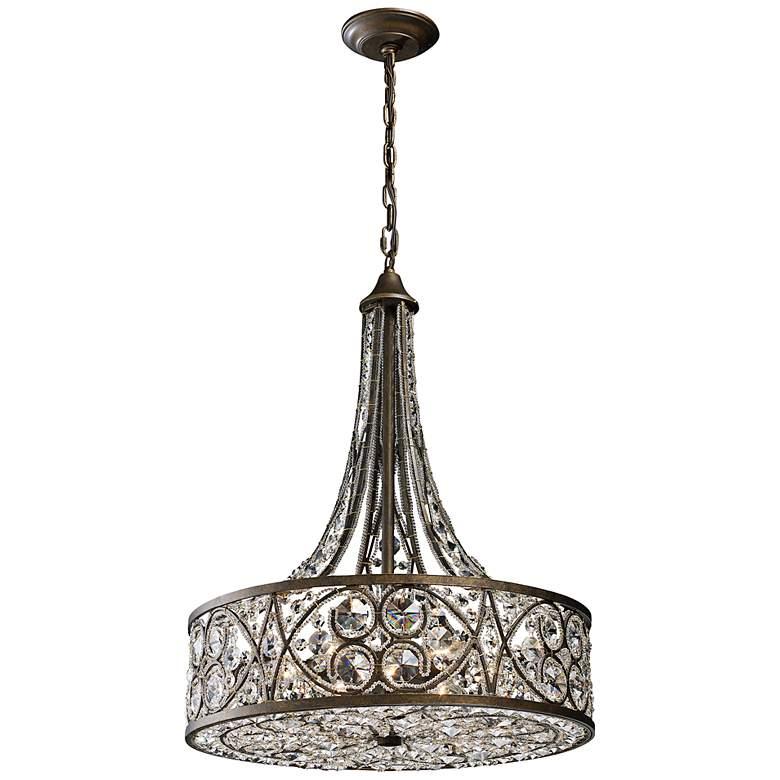 "Amherst 6-Light 20"" Wide Antique Bronze Pendant Light"