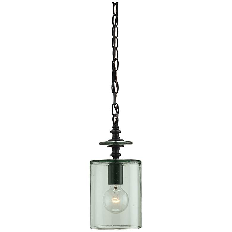 """Currey and Company Panorama 6"""" Wide Clear Glass Mini Pendant"""