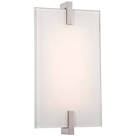 """George Kovacs Hooked 11 1/4"""" High LED Glass Wall Sconce"""