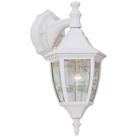 "Builder 14 1/4"" High Top-Mount White Outdoor Wall Light"