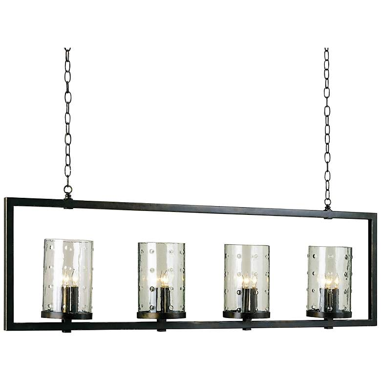 """Currey and Company Longhope 55"""" Wide Bronze Chandelier"""