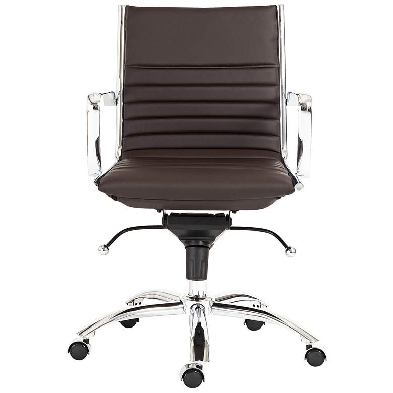Dirk Brown Leatherette Low Back Adjustable Office Chair