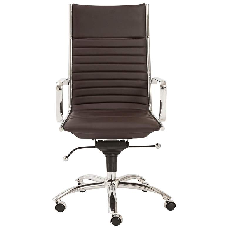 Dirk Brown Leatherette High Back Adjustable Office Chair