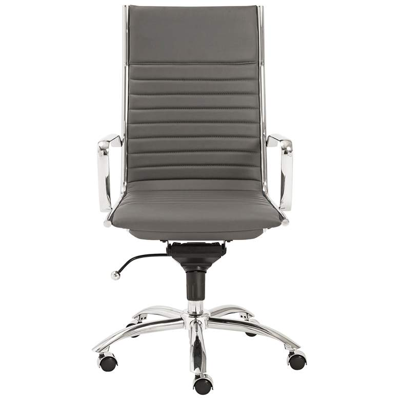 Dirk Gray Leatherette High Back Adjustable Office Chair