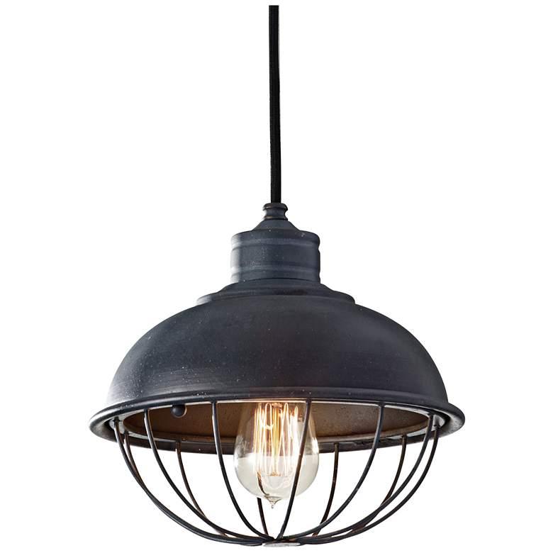"Feiss Urban Renewal 10"" Wide Iron Cage Mini Pendant Light"