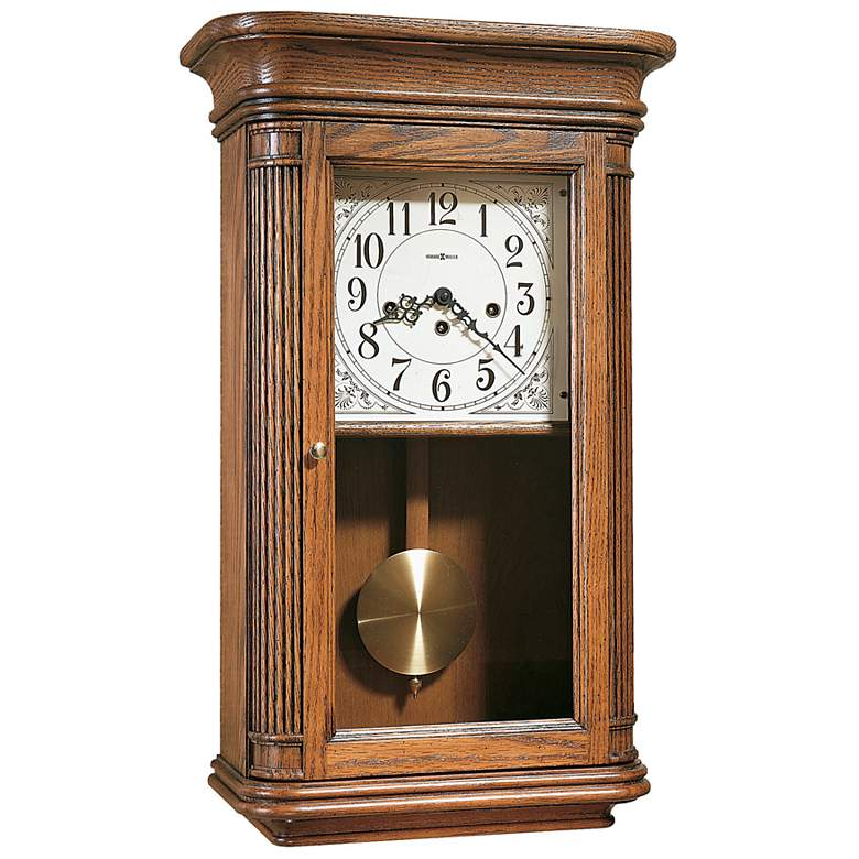 "Sandringham 24"" Key Wound Pendulum Chiming Wall Clock"