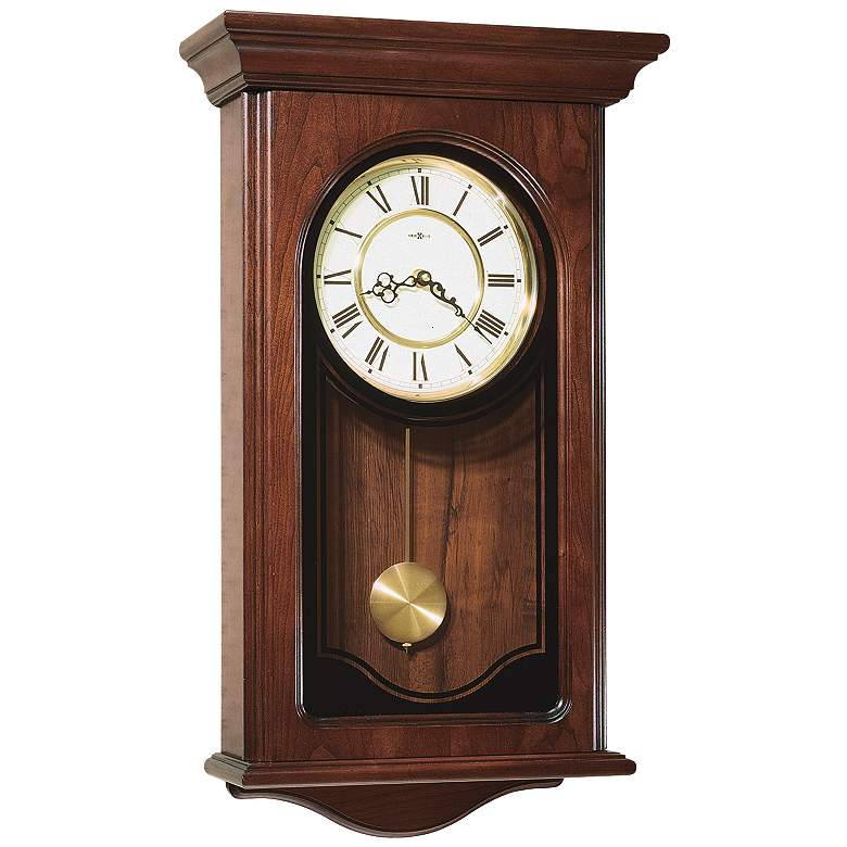 "Howard Miller Orland 26"" High Chiming Wall Clock"